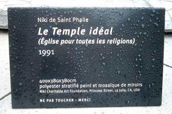 Niki Temple Idéal Plaque