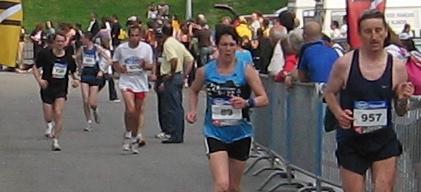 Marathon de Nantes, derniers 100 mètres.