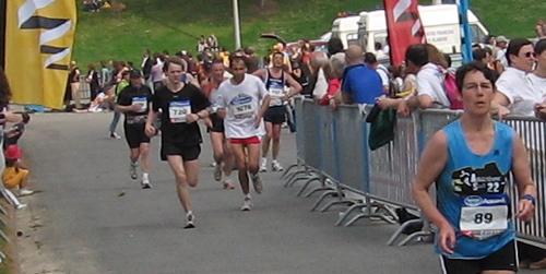 Marathon de Nantes, derniers 100 mètres en sprint :-).