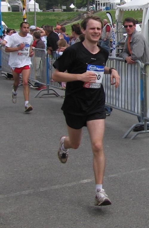 Marathon de Nantes, arrivée épuisé
