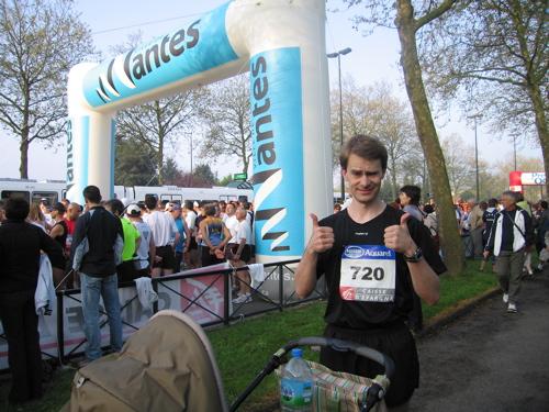 Marathon de Nantes, avant le départ avec Léo-Paul