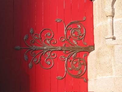 Porte rouge église Saint-Nicolas, Nantes